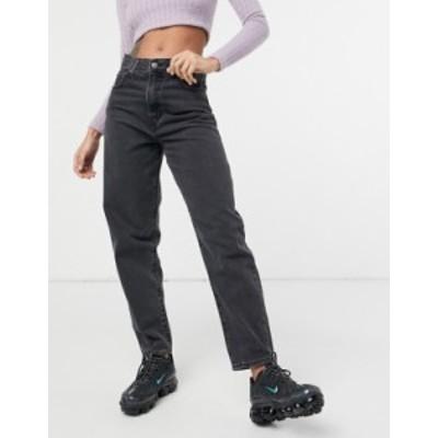 リーバイス レディース デニムパンツ ボトムス Levi's high loose tapered leg jeans in black Lose control