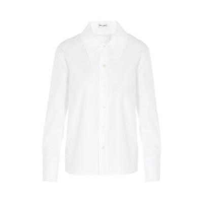 SAINT LAURENT PARIS/イヴ サンローラン コットンシャツ Bianco レディース 秋冬2020 626928Y227W9000 ju