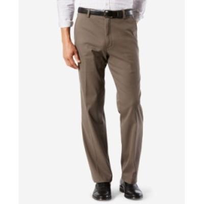 ドッカーズ メンズ カジュアルパンツ ボトムス Men's Easy Classic Fit Khaki Stretch Pants Dark Pebble
