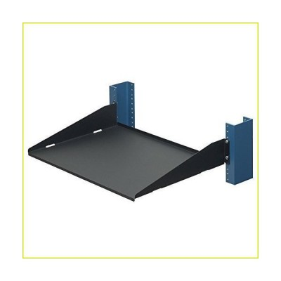 "RackSolutions 2 Post Rack Shelf - 13"" Solid, Flanges Down"