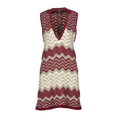 マニラ グレース MANILA GRACE ミニワンピース&ドレス ガーネット 3 35% レーヨン 20% モヘヤ 20% アクリル 15% ナイ