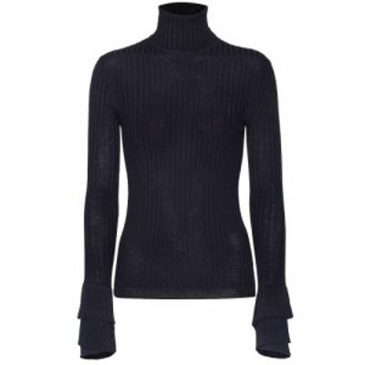 クロエ Chloe レディース ニット・セーター トップス Wool turtleneck sweater Evening Blue