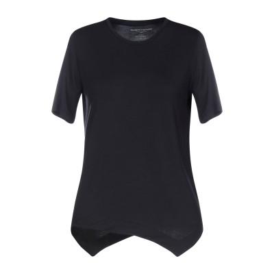 マジェスティック MAJESTIC FILATURES T シャツ ダークブルー 1 レーヨン 94% / ポリウレタン 6% T シャツ