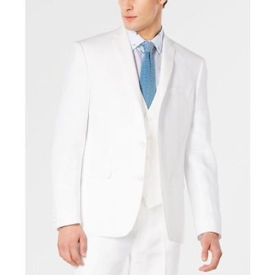 バースリー ジャケット&ブルゾン アウター メンズ Men's Slim-Fit Chambray Suit Jackets White