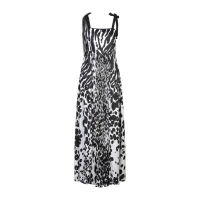 クラス ロベルト カヴァリ CAVALLI CLASS ロングワンピース&ドレス ブラック 46 ポリエステル 100% / アセテート / シルク