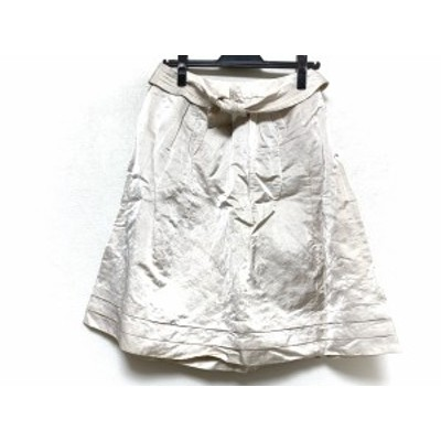 トゥービーシック TO BE CHIC スカート サイズ38 M レディース 美品 - ベージュ ひざ丈【中古】20210110
