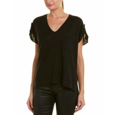 BCBGMAXAZRIA BCBG マックスアズリア ファッション トップス Bcbgmaxazria High-Low Linen-Blend Top Xs Black