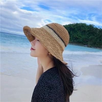 品質改善!高品質新入庫! 韓国ファッション  レディース 帽子 キャップ 麦わら帽 日焼け止め