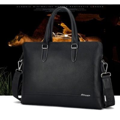 レザーバッグ 3色 本革ハンドバッグ  紳士用 牛革 手提げバッグ ショルダー ビジネスバッグ 通勤用 送料無料 カバン メンス