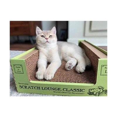 Scratch Lounge Cardboard Cat Scratcher - New Size - Lasts 10 Times Longer Than Other Conventional Scratchers - Large and Durable with Revers