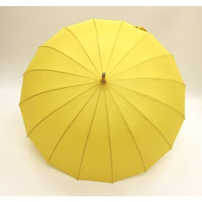 和傘 16本骨 ポンジージャンプ傘  からし(黄色)直径94cmのワイドサイズx1本