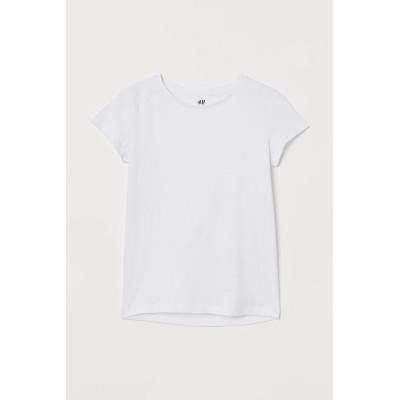 H&M - コットンTシャツ - ホワイト