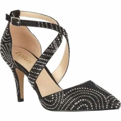 ロータス Lotus Shoes レディース パンプス シューズ・靴 Latoya Diamante Court Shoes Black/Diamante