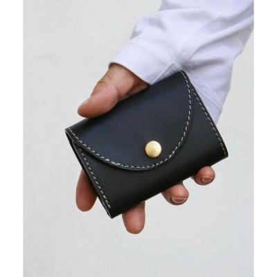 財布 レザー 三つ折りコンパクトウォレット