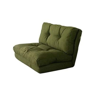 アイリスプラザ ソファ ベッド 座椅子 3WAY 折り畳み 2人掛け グリーン 幅約90cm CG-4Aー90-FAB