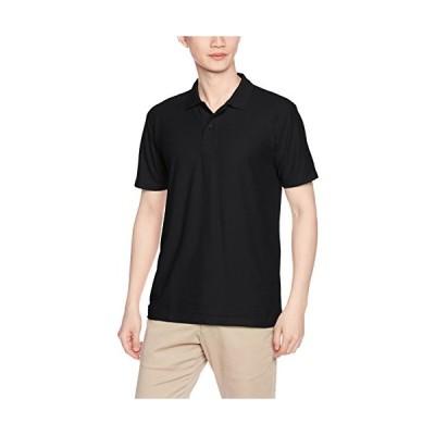 [プリントスター] 半袖 4.9オンス TC 鹿の子 カジュアル ポロシャツ 00193-CP メンズ ブラック S (日本サイズS相当)