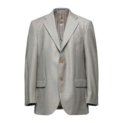 LUBIAM テーラードジャケット ドーブグレー 54 バージンウール 100% テーラードジャケット