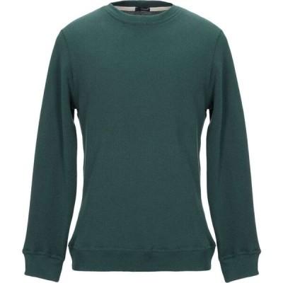 プラスピープル (+) PEOPLE メンズ スウェット・トレーナー トップス sweatshirt Dark green