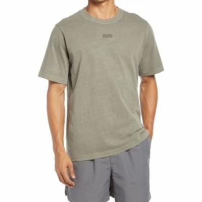 プーマ PUMA メンズ Tシャツ トップス MMQ Earthbreak Logo T-Shirt Vetiver