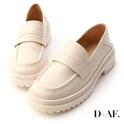 D+AF 發燒精選.可後踩鬆糕底樂福鞋*米
