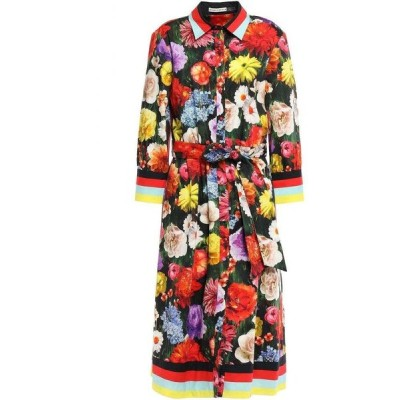 アリス アンド オリビア ALICE + OLIVIA レディース ワンピース シャツワンピース belted printed stretch-cotton midi shirt dress Multicolor