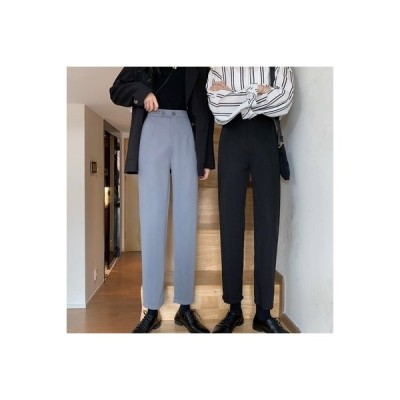 【送料無料】パンツ レディース 秋 韓国風 ファッション ハイウエスト 着やせ スーツの   364331_A63587-7411675