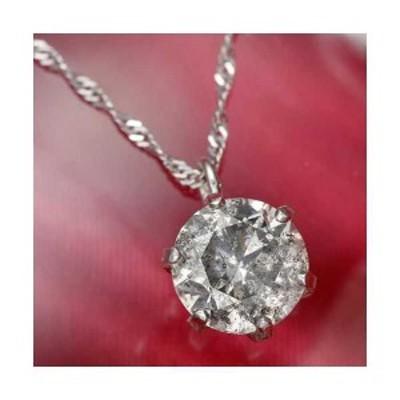 純プラチナ 0.7ct ダイヤモンド ペンダント ネックレス (鑑別カード付き)