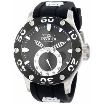 腕時計 インヴィクタ インビクタ Invicta Men's 12703 Russian Diver Black Dial Black Silicone Watch
