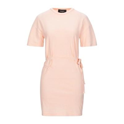 ディースクエアード DSQUARED2 ミニワンピース&ドレス サーモンピンク XS コットン 100% ミニワンピース&ドレス