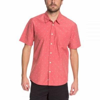 クイックシルバー 半袖シャツ Trailblazed Tribal Right Shirts Mineral Red