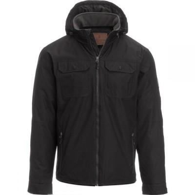 フリーカントリー Free Country メンズ ジャケット アウター Poly Canvas Jacket with Hidden Hood Black
