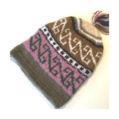 手編みニット帽子 17☆クリックポスト可