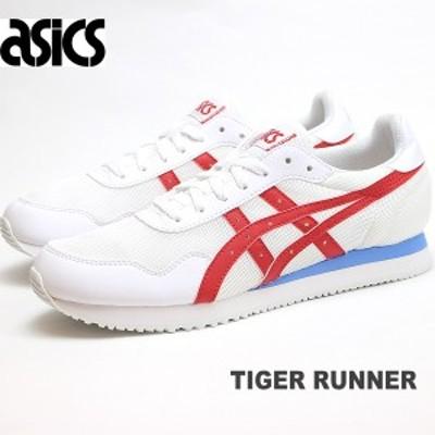 アシックス タイガー ランナー メンズ スニーカー asics TIGER RUNNER 1191A207-104 WHITE/CLASSIC RED