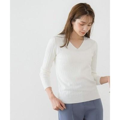 ニット UV&シルクタッチ2type長袖リブニット