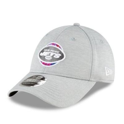 ジェッツ キャップ 帽子 ニューエラ New Era 9FORTY グレー NFL 2020 アジャスタブル