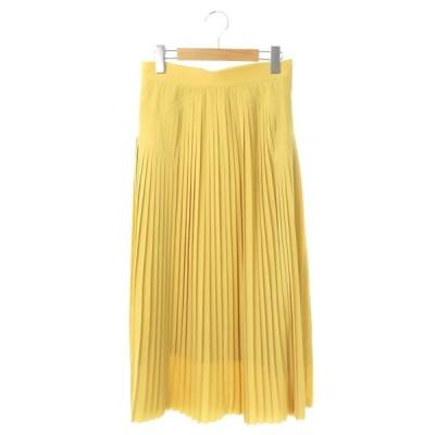 【中古】コンバース CONVERSE トウキョウ TOKYO プリーツロングスカート 3 黄 イエロー /DF ■OS レディース 【ベクトル 古着】