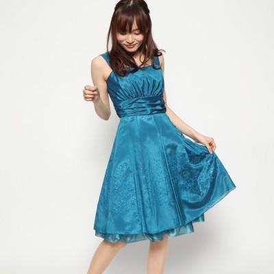 ジュネビビアン Genet Vivien 胸切り替え編み上げドレス (グリーン)