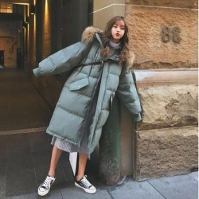 ダウンコート レディース ダウン綿コート ロング丈 軽い ダウンジャケット 大きいサイズ 中綿コート 暖かい 20代 30代 40代 50代 2020秋