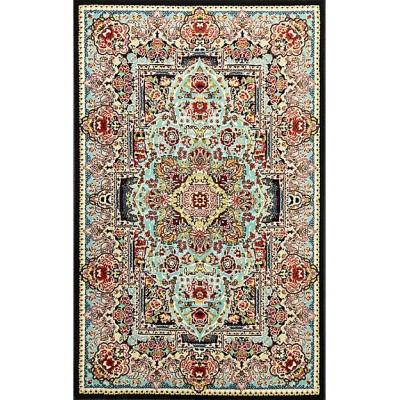 ペルシャ絨毯(機械織)50×80cm (9)トュウバ柄 ブルー【三越伊勢丹/公式】