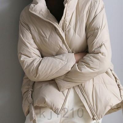 2019ダウンジャケットレディース暖かいダウンコートショート丈軽量スタンドカラー秋冬アウター防寒ゆったりお洒落OL通勤学生入学式着痩せ