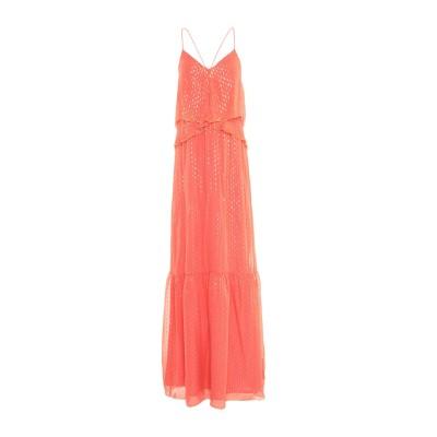 INTROPIA ロングワンピース&ドレス コーラル 38 シルク 85% / メタリック繊維 15% ロングワンピース&ドレス