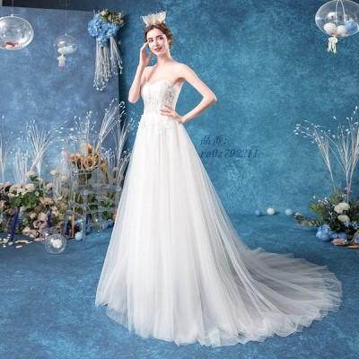 ウェディングドレス aラインドレス 安い ウエディングドレス 二次会 カップ ブライダル 披露宴 結婚式 透かし感 花嫁 シースルーレース パーティードレス
