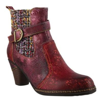 スプリングステップ ブーツ&レインブーツ シューズ レディース Nancies Ankle Bootie (Women's) Bordeaux Multi Leather/Textile