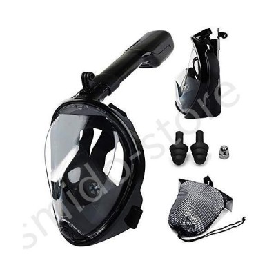 新品未使用!!送料無料!!Leucothea Free Breath Full Face Snorkel Mask 180 Degree Panoramic Wide View Dry Snorkel Scuba Anti-Fog Anti-L