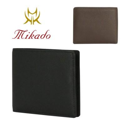 ミカド Mikado 二つ折り財布  318013 コンビヌメ  財布 メンズ レザー [PO5]