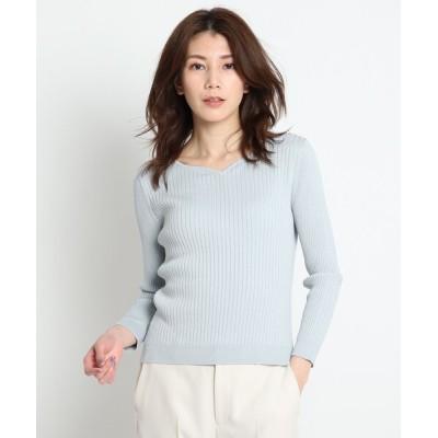 COUP DE CHANCE / 【洗える】ラメ入り長袖リブニットプルオーバー WOMEN トップス > ニット/セーター