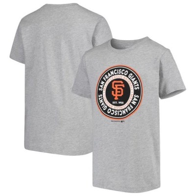 キッズ スポーツリーグ メジャーリーグ Youth Heathered Gray San Francisco Giants Circle Logo T-Shirt Tシャツ