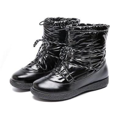 ムートンブーツもこもこあったかブーツショート防水ブーツファー定番秋冬レディース防寒雪靴幅広滑り止め冬ボアやわらかい痛くないふわふわ