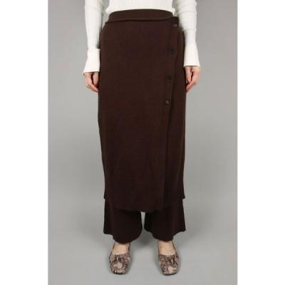 【50%OFF】トゥデイフル レディース Wraparound Knit Skirt アイスブルー【正規取扱店】