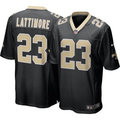 ナイキ Nike メンズ トップス New Orleans Saints Marshon Lattimore #23 Black Game Jersey